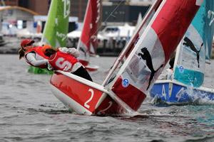 Ship's Cat. Puma backs ICSA in Boston. Photo Dave Kneale.
