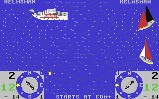 Screenshot from America's Cup game for C64