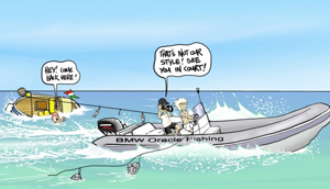 A penchant for crusading litigation? Cartoon from Alinghi.com