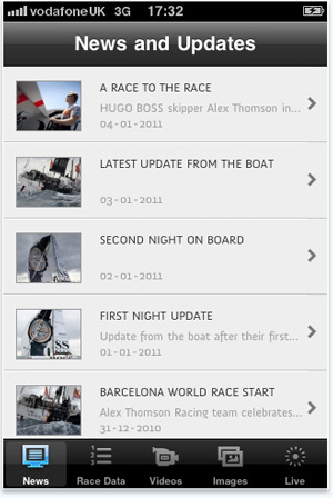 Hugo Boss Sailing iPhone App