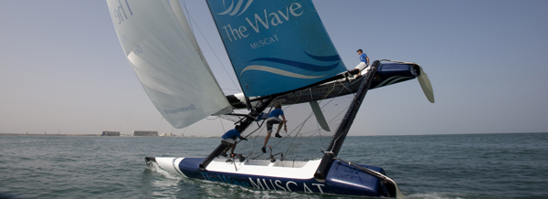 Muscat the Wave in the Extreme Sailing Series